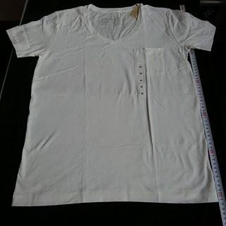 ムジルシリョウヒン(MUJI (無印良品))の無印良品 オーガニックコットン Vネック 半袖 Tシャツ 白 婦人 М(Tシャツ(半袖/袖なし))