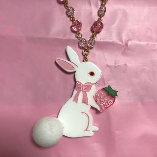 アンジェリックプリティー(Angelic Pretty)のRibbon Berry Bunny ネックレス(ネックレス)