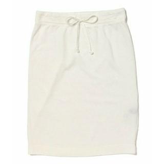 デミルクスビームス(Demi-Luxe BEAMS)の*Demi-Luxe BEAMS* ライト裏毛タイトスカート(白)(ひざ丈スカート)