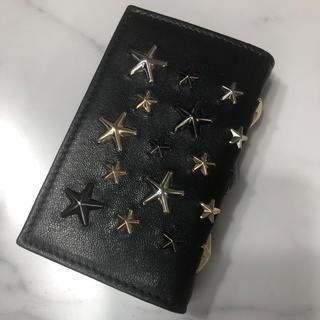 ジミーチュウ(JIMMY CHOO)の新品 ジミーチュウ カードケース 本革 二つ折り 名刺入れ スタッズ ブランド(名刺入れ/定期入れ)