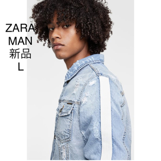 ザラ(ZARA)のZARA MAN ホワイトライン ダメージ加工 ジージャン(Gジャン/デニムジャケット)