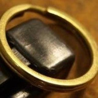 真鍮無垢2重マルカン★キーチェーン・ウォレットチェーン外径25mm(キーホルダー)