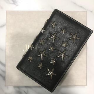 ジミーチュウ(JIMMY CHOO)の新品 ジミーチュウ 名刺入れ カードケース 二つ折り スター スタッズ  大容量(名刺入れ/定期入れ)