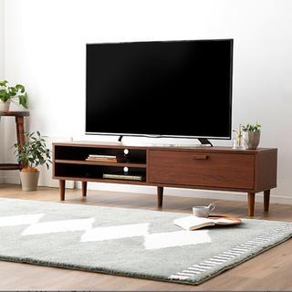 unico - TVボード ウォールナットブラウン