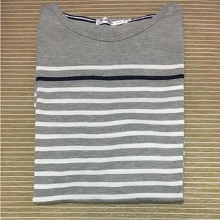 アベイル(Avail)のボーダー Tシャツ AVAIL しまむらグループ グレー Mサイズ(Tシャツ/カットソー(半袖/袖なし))