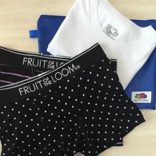 新品豪華4点セット フルーツオブザルーム ボクサーパンツ&Tシャツ&収納ポーチ