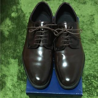 アスビー(ASBee)のASBee アスビー メンズ 耐水 防滑 革靴 ダークブラウン ワインレッド(ドレス/ビジネス)