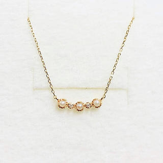 エテ(ete)の【ete】K10 パール ダイヤ ネックレス(ネックレス)