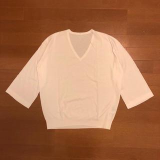 MUJI (無印良品) - コットンVネックセーター / 無印良品