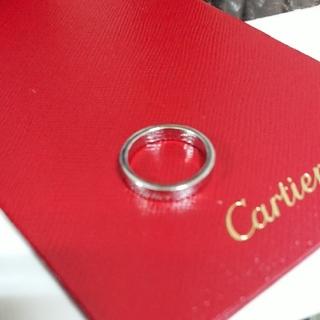 カルティエ(Cartier)のCartier カルティエ エングレーヴド プラチナリング pt950(リング(指輪))