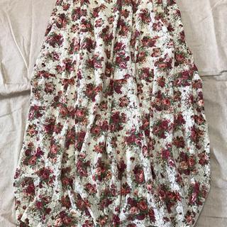 アンティカ(antiqua)のアンティカ 花柄スカート(ロングスカート)