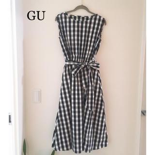 GU - g.u 今季 大人気チェックワンピース