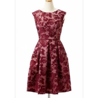 エメ(AIMER)のAIMER 花柄オパール加工ドレス(ミディアムドレス)