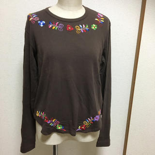 コムデギャルソン(COMME des GARCONS)のコムデギャルソン☆花 刺繍 ロンT カットソー(Tシャツ(長袖/七分))