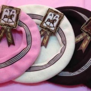 アンジェリックプリティー(Angelic Pretty)の新品Angelicpretty ☆Musee du Chocolatベレー帽 (ハンチング/ベレー帽)