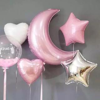 選べるカラー♡ ハート 星 バルーン  40㎝  ヘリウム対応 誕生日 結婚式