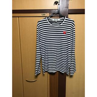 コムデギャルソン(COMME des GARCONS)のコムデギャルソン ハートボーダーロングtシャツ(Tシャツ/カットソー(七分/長袖))