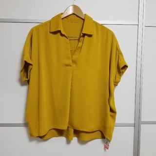 イング(INGNI)のイング 新作タグ付き スキッパーシャツ 新品(シャツ/ブラウス(半袖/袖なし))