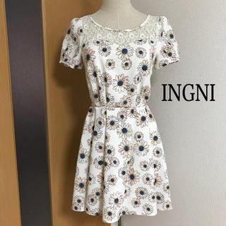 イング(INGNI)の8.【INGNI】花がらワンピース(M)(ミニワンピース)