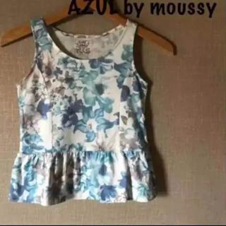 アズールバイマウジー(AZUL by moussy)のAZUL by moussy花柄タンクトップアズールバイマウジー(Tシャツ/カットソー)