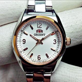オリエント(ORIENT)のORIENT(オリエント)レディース腕時計 文字盤ホワイト ゴールドベゼル(腕時計)