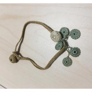 ミナペルホネン(mina perhonen)のシルク丸花のブレスレット(ブレスレット/バングル)