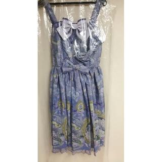 アンジェリックプリティー(Angelic Pretty)のRose Museum SpecialジャンパースカートSet ラベンダー(ひざ丈ワンピース)
