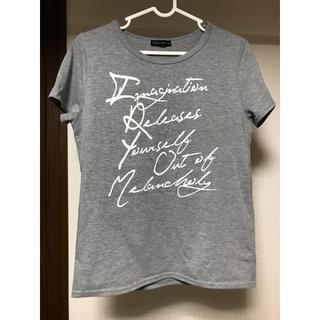 シマムラ(しまむら)のグレー Tシャツ(Tシャツ(半袖/袖なし))