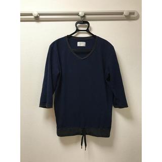 トローヴ(TROVE)のTROVE トローヴ 7SLEEVE V-NECK サイズ1 ネイビー(Tシャツ/カットソー(七分/長袖))