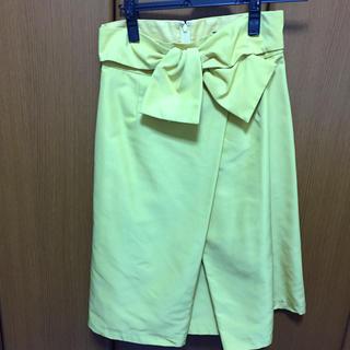 ジャスグリッティー(JUSGLITTY)のJUSGLITTY ステッチリボンタイトスカート(ひざ丈スカート)