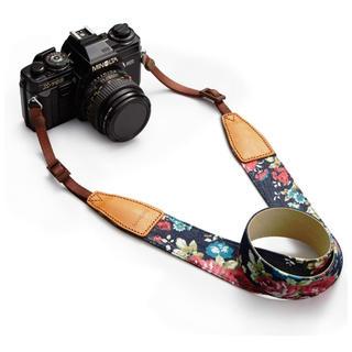 カメラストラップ 一眼レフ/デジタル ニコン/キヤノン対応 マルチカラー(デジタル一眼)