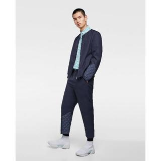 バレンシアガ(Balenciaga)の新品ZARAmanナイロンキルティング切替変形スーツセットアップS(セットアップ)