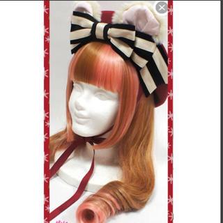 アンジェリックプリティー(Angelic Pretty)の新品未使用☆ プレゼント bear ベレー ワイン くま耳(ハンチング/ベレー帽)