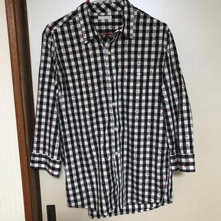 ジーユー(GU)のGU    7分袖チェックシャツ   Mサイズ(シャツ)