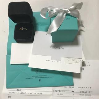 ティファニー(Tiffany & Co.)のTiffanyティファニー Tスクエアリング18Kゴールド22号(リング(指輪))