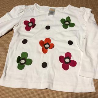 ジンボリー(GYMBOREE)の花柄 ドット風 長袖シャツ(Tシャツ/カットソー)