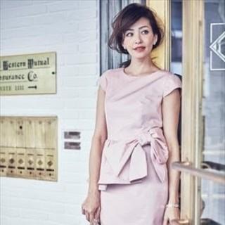 ジャスグリッティー(JUSGLITTY)の未使用品 ジャスグリッティー¥33480 サイドリボンワンピース ドレス(ひざ丈ワンピース)