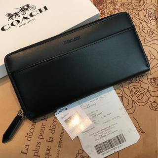 コーチ(COACH)のコーチ新品 ブラック レザー 74809 ビジネス 長財布♡(長財布)