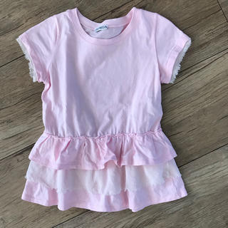 シモネッタ(Simonetta)のシモネッタ フリルTシャツ ベビーピンク(Tシャツ/カットソー)