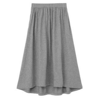 MUJI (無印良品) - 無印良品!モダールコットンマキシ丈スカート♪M