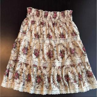 リズリサ(LIZ LISA)のLIZ LISA 花柄 レース スカート(ひざ丈スカート)