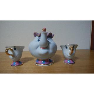 ディズニー(Disney)の美女と野獣 ポット夫人 ティーセット(食器)