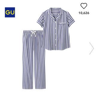 ジーユー(GU)のGU ストライプ 半袖 パジャマ 綿100% M(パジャマ)