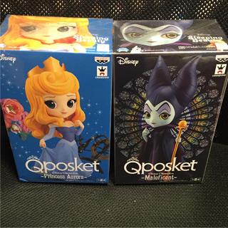 ディズニー(Disney)のQposket マレフィセント オーロラ姫 レアカラー 2種セット(アニメ/ゲーム)