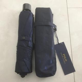 POLO RALPH LAUREN - ポロ ラルフローレン 折りたたみ傘 ネイビー 紺 新品 自宅保管品 傘