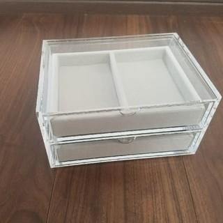 ムジルシリョウヒン(MUJI (無印良品))のアクリル収納ケース ベロア内箱つき(小物入れ)