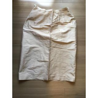 ニジュウサンク(23区)の23区 シャンパンゴールド シルクスカート(ひざ丈スカート)