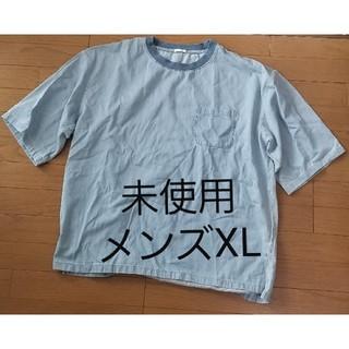 ジーユー(GU)のリネンブレンドビッグプルオーバーシャツ(半袖)(シャツ)