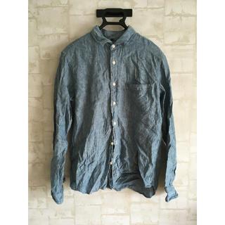 MUJI (無印良品) - 無印良品リネンシャツサイズL