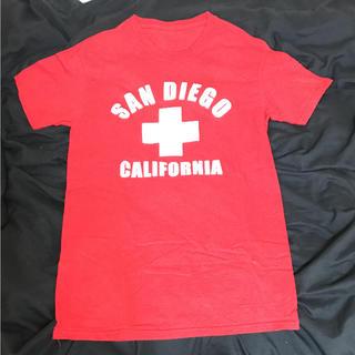 【古着】 Tシャツ 赤(Tシャツ/カットソー(半袖/袖なし))